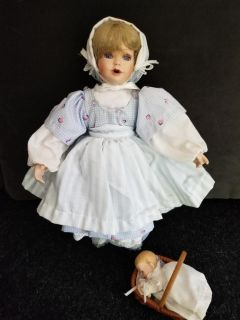 Collectable doll with baby