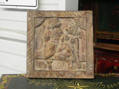 Antique Wooden Carving in Kamasutra theme