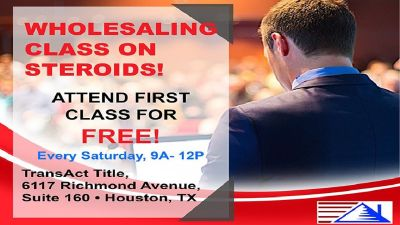 WHOLESALING CLASS ON STEROIDS! ATTEND FIRST CLASS FOR FREE! with Ray & Landon