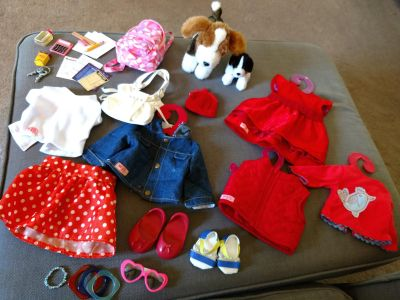 Large Lot of Our Generation Doll Clothes and Accessories