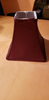 """9l x 9 1/2"""" w lamp shade shimmery burgundy color"""