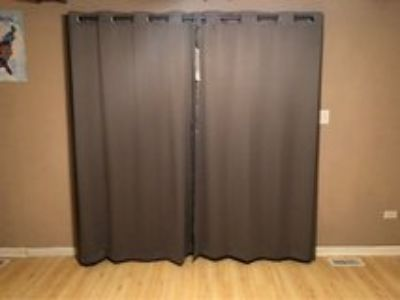 black out curtains w wrap around rod