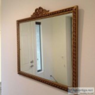 Antique mirror and cobblers bench for sale