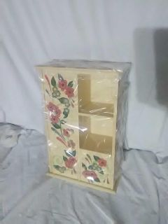 Hand painted mini cabinet