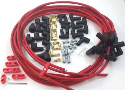 Sell SBC SB Chevy Universal Red Taylor 8 MM Spark Plug Wires 90 Degree W/ Looms 350 motorcycle in Chatsworth, California, United States, for US $46.99