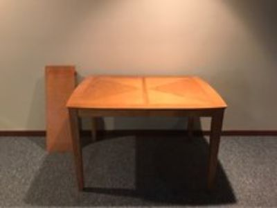 Wood Table with extension leaf
