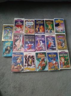 17 VHS Childrens Disney Movies