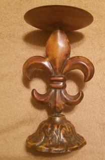 "Fleur De Lis Candle Holder from boutique 9"" tall"