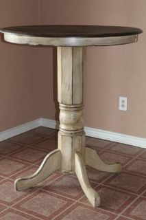 TALL 36 ROUND TABLE-SOLID WOOD