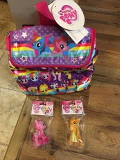 My little pony backpack with 2 ponies
