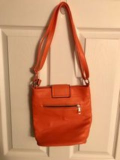 leather orange body purse