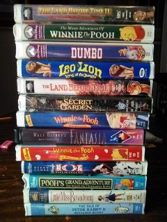 13 VHS Kids Movies