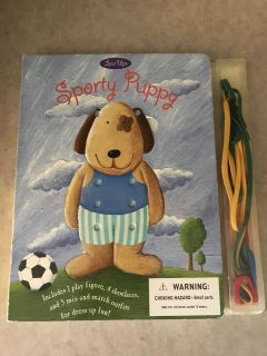 Sporty Puppy Lacing book