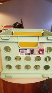 Storage Crate with Hanging File Folders