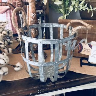 Metal decor basket, 12 tall, new w/tags. Couldn t find a spot. Only $8!