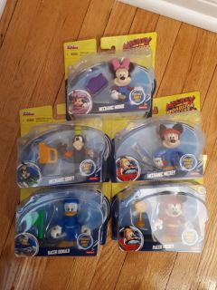 MICKEY AND THE ROADSTER RACERS FIGURES.....BRAND NEW!
