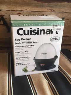 Egg Cooker, makes perfect easy to peel eggs every time! Asking $10 (cost $30)