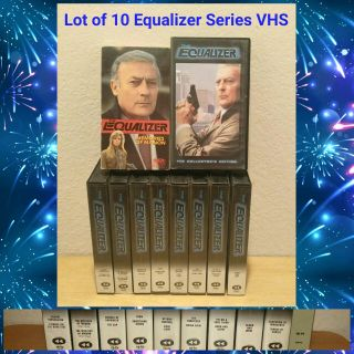 LOT OF 10 EQUALIZER SERIES VHS