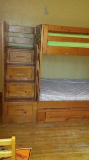 Twin Wooden Bunk Bed