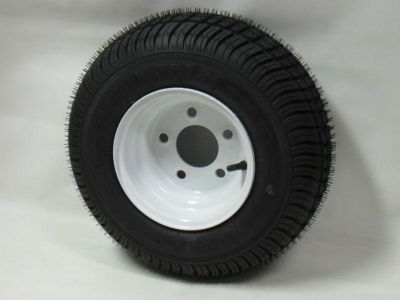 "Sell 165/65-8 LRB 4 PR Bias Trailer Tire on 8"" 5 Lug White Trailer Wheel 16.5x6.50-8 motorcycle in Edon, Ohio, US, for US $57.00"