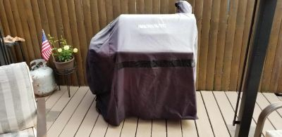 Brinkman offset smoker grill - comes with cover