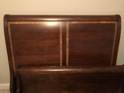 Queen Sleigh Bed and Matching Night Stands