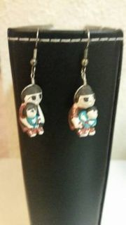 Vintage Native American storyteller earrings