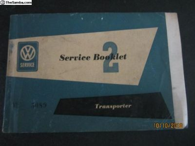 Early Type 2 Service Booklet Feb - March 1955