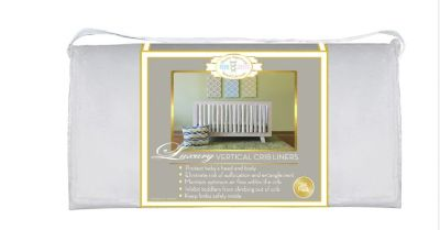 NEW-Go Mama Go Designs 24-Pack Pure Safety Vertical Crib Liners in White