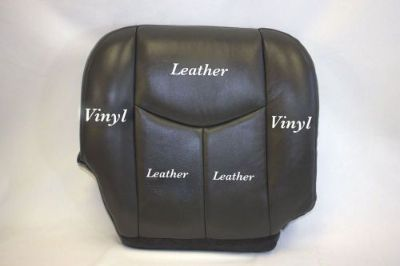 Sell 2005 2006 Chevy Silverado Truck Passenger Bottom Leather Seat Cover Dark Gray motorcycle in Houston, Texas, United States