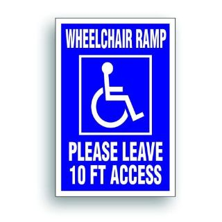Find Magnetic Sign Extra Large Handicap WHEELCHAIR RAMP 10' disability van 409XM motorcycle in Mentor, Ohio, United States, for US $25.98