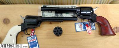 """For Sale: **Super Bargin and in-stock**NIB Heritage Rough Rider Combo Revolver - .22 LR & .22mag , 6.5"""" Blued with Wood or White Grips"""