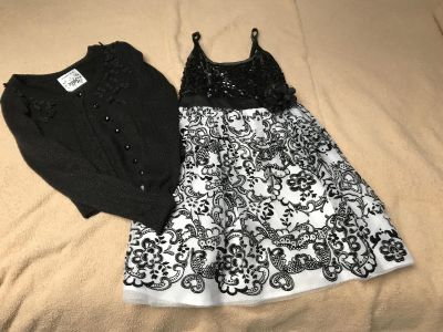 Size 8 Justice dress and sweater set