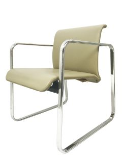 Herman Miller Chrome Frame Chair by Peter Protzman