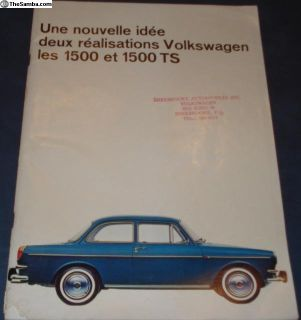 1964 52 Page Type 3 Sales Brochure French Canada