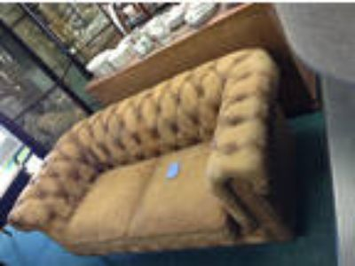 chesterfield Leather Tufted Loveseat by ParkHill Collection