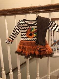 2t girl s Thanksgiving shirt and pants
