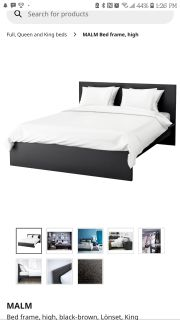 IKEA MALM Bed Frame - King