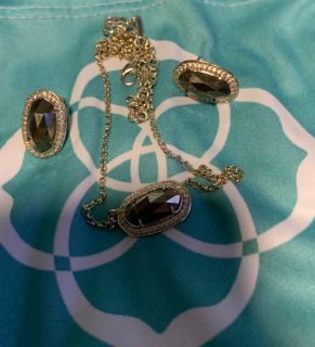 Kendra Scott Bronze & Gold Necklace and Earrings. Excellent Condition.