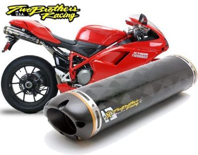 Purchase Two Brothers Dual M-2 Carbon Fiber Slip-On Exhaust Ducati 848 1098 1198 motorcycle in Ashton, Illinois, US, for US $919.96