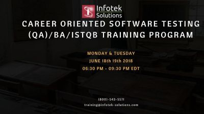 Career Oriented Software Testing, QA/BA , ISTQB Training Program