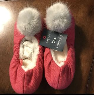 NWT Joules Slippers size 3-4