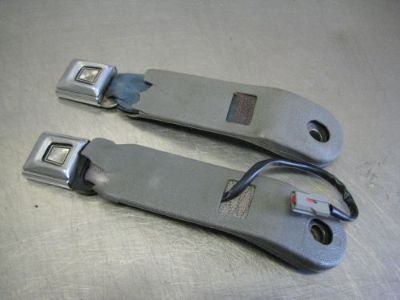 Sell 79-93 Ford Mustang GT LX Front Seat Belt Receivers Blue & Grey 80 81 82 83 84 85 motorcycle in Franklin, Indiana, United States, for US $3.02