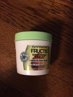 Brand new Garnier fructis smoothing treatment one minute hair mask avocado extract conditioner