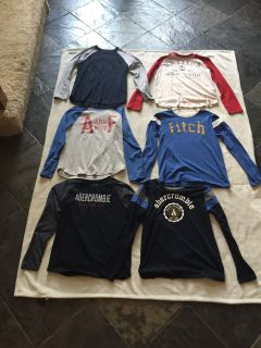 6 boys Abercrombie t-shirts size 12- great condition