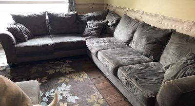 Microfiber Green Couch