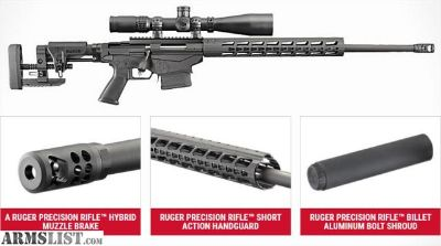 For Sale: Ruger Precision Rifle Gen 2, 6.5MM Creedmoor, READY TO SHIP!