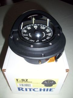 Find RITCHIE NEW F82 BLACK FLUSH MOUNT MARINE POWER BOAT or PEDESTAL Mount COMPASS motorcycle in Melbourne, Florida, United States, for US $99.00