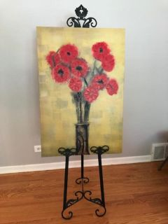 Poppy canvas with easel