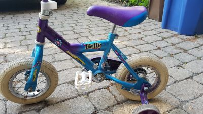 Belle Toddler Bike with Training Wheels